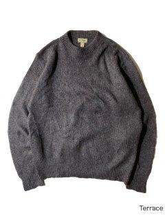 70's L.L.Bean Wool Knit L CHARCOAL MADE IN U.S.A.