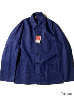 60's DEAD STOCK Euro Herringbone Twill Coverall Jacket