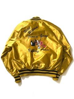 70〜80's DeLONG Nylon Stadium Jacket GOLD MADE IN U.S.A.