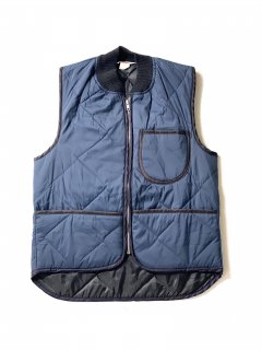 80's WEAR-GUARD Quilting Vest NAVY MADE IN U.S.A.