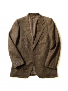 70's LEVORACO Glen Check Tweed Tailored Jacket  MADE IN ITALY