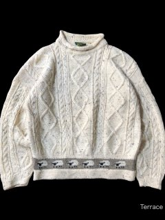 90's Mock Neck Alan Knit MADE IN GREAT BRITAIN