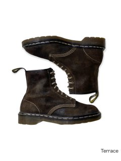 90's Dr.Martens 8hole Nubuck Lether Boots BROWN (26.0㎝程度) MADE IN ENGLAND