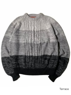 90's CHARTWELL Gradation Cable Knit