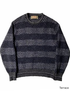80's Alan Paine Border Design Knit MADE IN ENGLAND