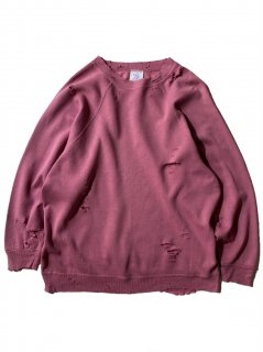 80's Destroyed Sweat SMOKY PINK