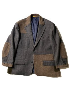 90's GANT Tweed Patchwork Tailored Jacket MADE IN U.S.A.