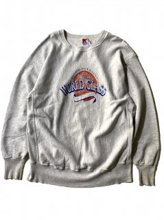 90's WORLD CLASS Reverse Weave Type Sweat GRAY MADE IN U.S.A.