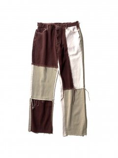90's Patchwork Untrimmed Denim Pants