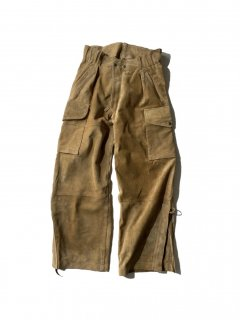 FRAGILE Suede Leather Cargo Pants Sampling by