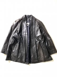 90's AnnTaylor Leather Haori BLACK MADE IN U.S.A.
