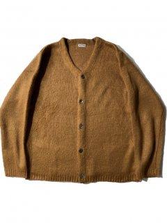 GENERAL Shaggy Knit Cardigan BROWN