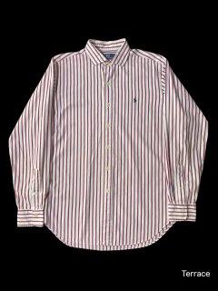 "90's Polo by Ralph Lauren Cotton Stripe Shirt ""アメリカ規格"""
