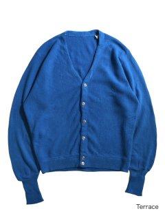 70~80's Acrylic Cardigan BLUE