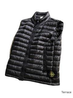 STONE ISLAND Garment Dye Packable Down Vest BLACK L