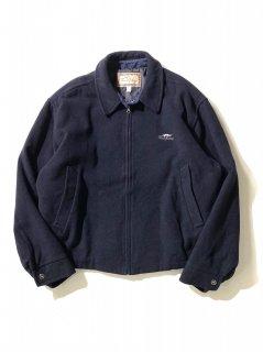 90's THOMAS BURBERRY Fleece Drizzer Jacket  NAVY