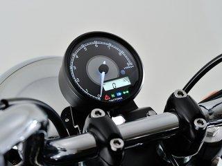 VELONA 電気式タコ&スピードメーター φ80  ステンレスボディ ホワイトLED【デイトナ】