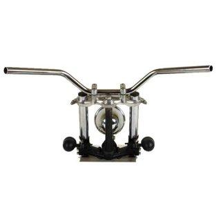 ナロートラッカーバー クローム AMAL364ホルダー ワイヤーセットSR400/500(88-00年) 【モーターガレージグッズ】