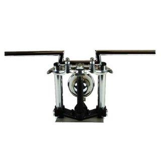 SR400/500(88-00年) ローハイトバー クローム AMAL364ホルダー ワイヤーセット【モーターガレージグッズ】