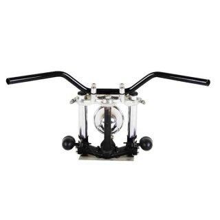 ナロートラッカーバー ブラック AMAL364ホルダーBK ワイヤーセットSR400/500(-84年) 【モーターガレージグッズ】