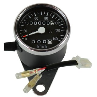 60φブラック・スピードメーターキット /SR400/500(85-02年) /トリップ付き【モーターガレージグッズ】