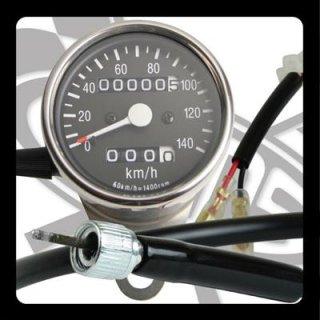 サイドマウントメーターキット φ60 トリップ付き SR400/500(85-00年/前後ドラムブレーキ)【モーターガレージグッズ】