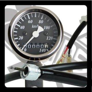 サイドマウントメーターキット φ48 SR400/500(85-00年/前後ドラムブレーキ)【モーターガレージグッズ】