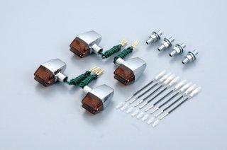 クラシカルシリーズ71タイプウインカーメッキボディ SR400/500(85-98年)オレンジレンズ【gloss(グロス)】