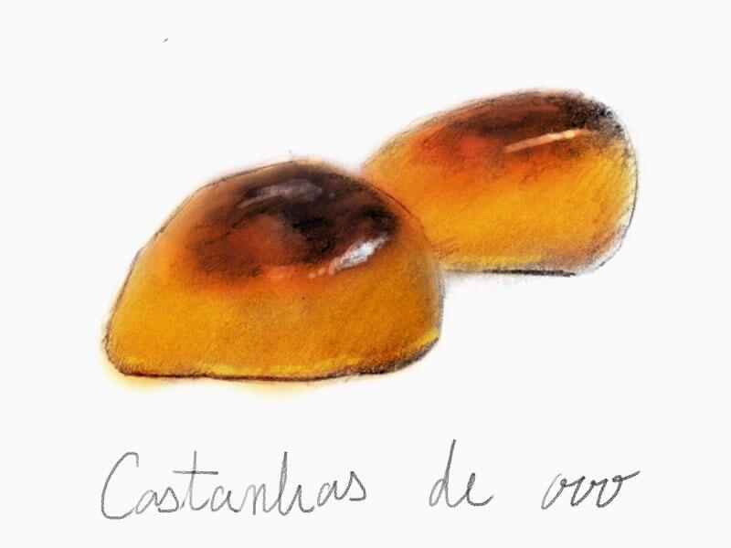 栗の形をした小さな甘い幸せ/カスターニャシュ デ オヴォシュ