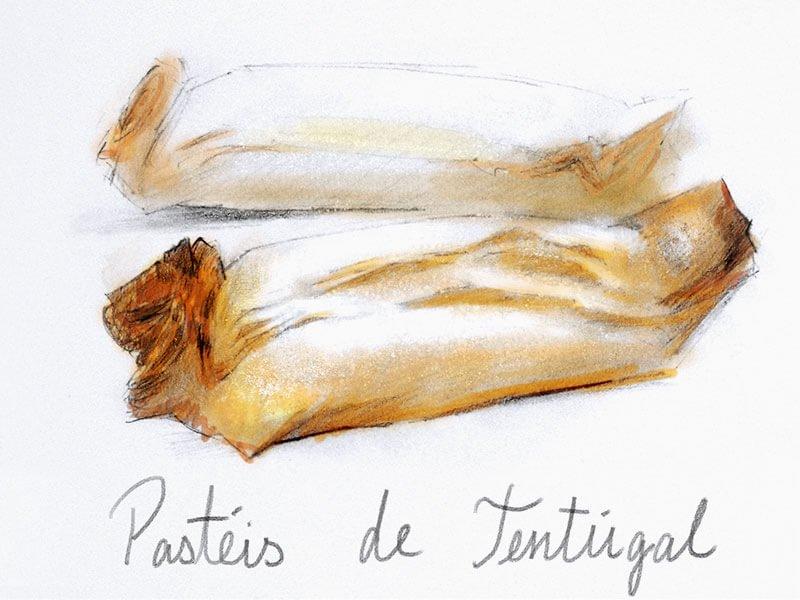 卵黄クリームを包んで焼き上げたサクサクのパイ菓子 /パステイシュ デ テントゥガル (3本入り)