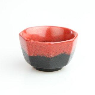脱乾漆ぐい呑 八角赤富士