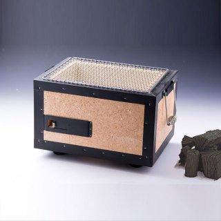 珪藻土貼り合せ炭火コンロ(金網付)2-4人用と大野製炭の「切炭」セット
