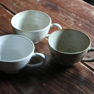 眉丈山焼のスープカップ(中)