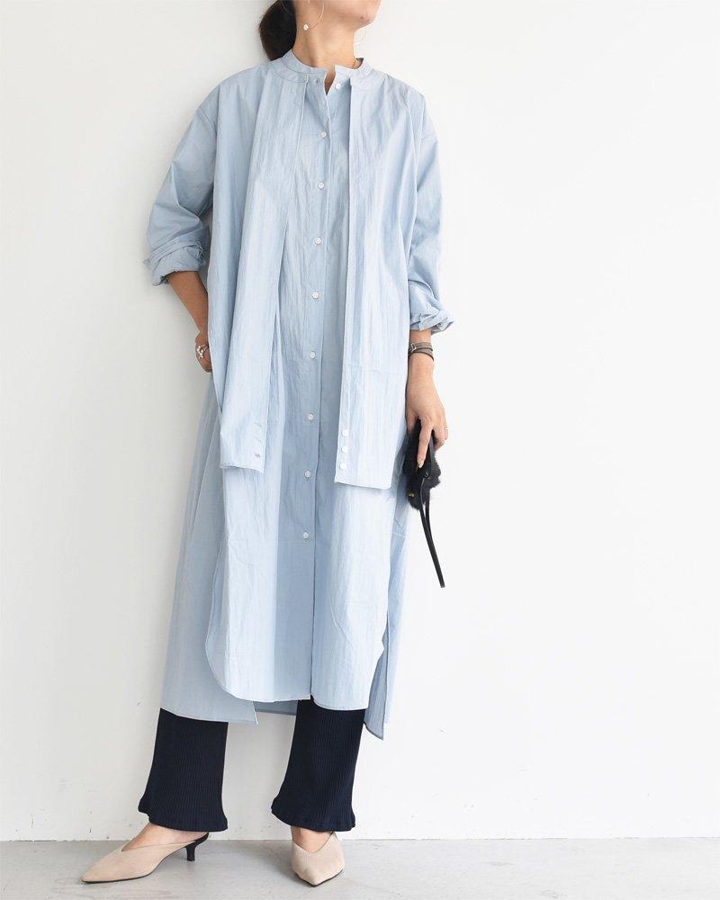 ロングシャツワンピース/長袖