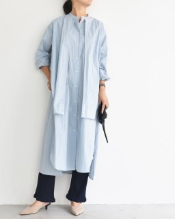 new color BROWN  ロングシャツワンピース