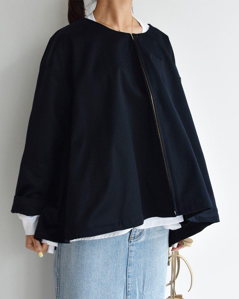 cen.20ss ノーカラーテントジャケット