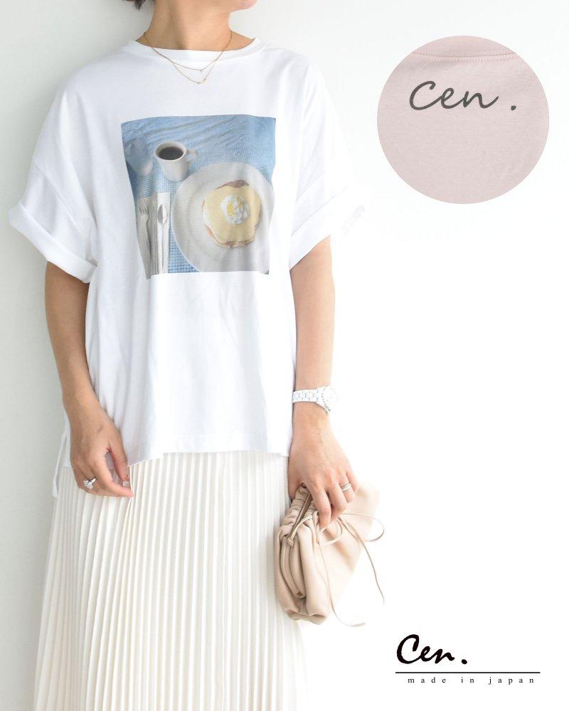 cen.anniversary コットンプリントTシャツ