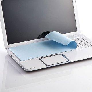 タッチパネルの指紋をふきふき♪ホコリガードもお掃除もできるキーボードカバークロス(ノート用大サイズ)