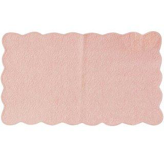 スベリ止め加工付き ロングフロアーマット カントリーローズ ピンク