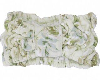 ヘアーバンド  ふんわり 柔らか 花柄 カルシア