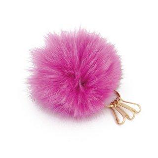 かわいい ファー バッグキーホルダー Tippi ティッピ ピンク