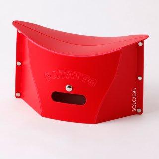 これは便利! バッグにも入る携行用 ポータブルチェアー SOLCION PATATTO mini(レッド)