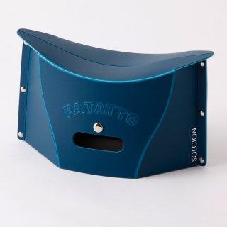これは便利! バッグにも入る携行用 ポータブルチェアー SOLCION PATATTO mini(ネイビー)
