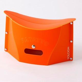 これは便利! バッグにも入る携行用 ポータブルチェアー SOLCION PATATTO mini(オレンジ)