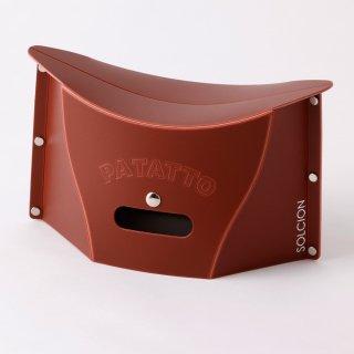 これは便利! バッグにも入る携行用 ポータブルチェアー SOLCION PATATTO mini(ブラウン)