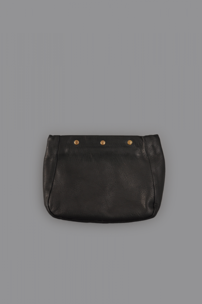 STYLE CRAFT Goatskin 3B Pouch (Ink Black)
