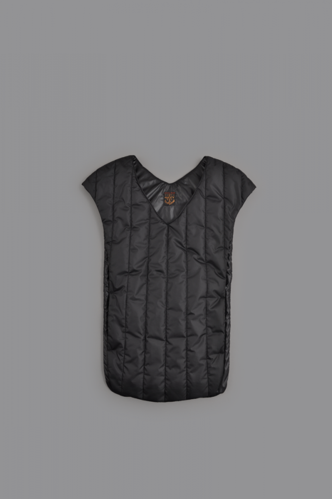 KAPITAL Nylon Quilting Muffler Vest