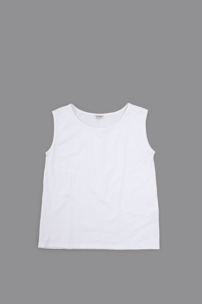 jujudhau ♀ SHALLOW NECK TANK TOP (WHITE)