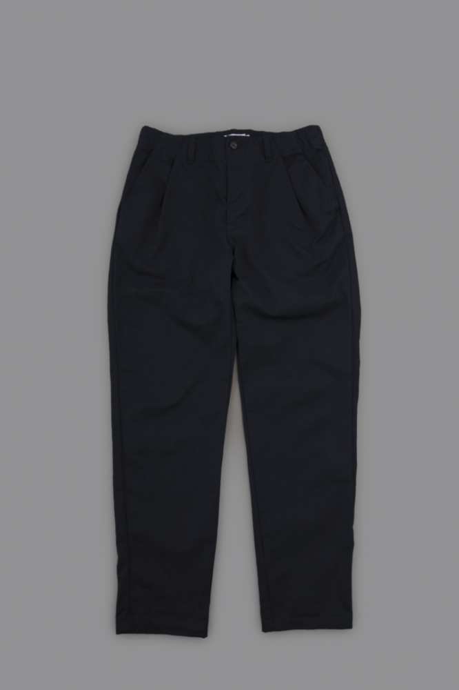 STILL BY HAND 1-Tuck Tapered Easy Pants (Navy)