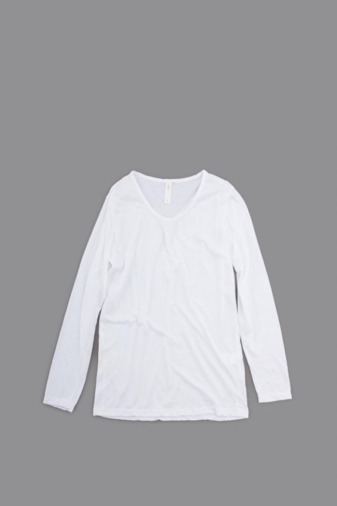 prit ♀ U-Neck L/S (White)